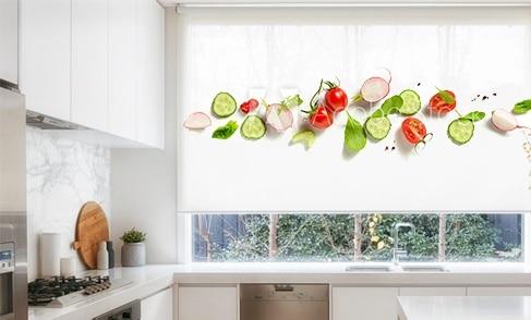Estores vegetales y frutas